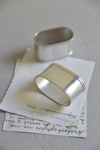 Jeanne d'Arc Living Serviettenring Conrad napkin ring versilbert Shabby Chic